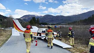 Image: Fly har sklidd av rullebane i Voss